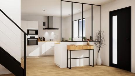 cuisine avec verrière - Home moderne